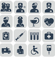 Doctor and Nurses icons on grey vector image vector image