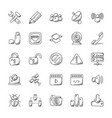 doodle icons of internet vector image vector image