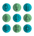 eco friendly object icons vector image