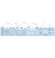 europe house and apartments set cute vector image vector image