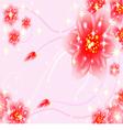 Fantasy floral wallpaper vector image vector image