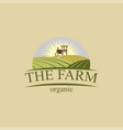 farm logos design vector image