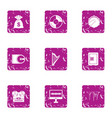fee for music icons set grunge style vector image vector image