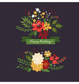 floral design elements on the dark background vector image