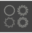 Floral wreath decoration vector image