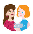 friend is sharing video to a friend vector image vector image