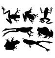 Frog Silhouette vector image vector image