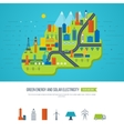 Green energy ecology eco urban landscape vector image vector image