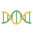 green yellow dna icon flat style vector image vector image