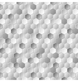 Grey metallic hexagons pattern texture vector image