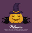 halloween celebration design vector image