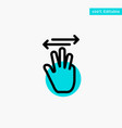 hand hand cursor up left right turquoise vector image vector image