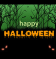 happy halloween text vector image vector image