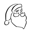 head of santa claus sketch doodle vector image
