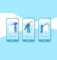 healthy medicine hygiene teeth mobile app page vector image vector image