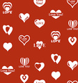 Heart pattern to Valentines Day Seamless texture