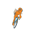 hermit crab character in cycling discipline vector image vector image