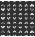 ink entangle heart seamless pattern vector image vector image