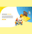interior design landing page website vector image vector image