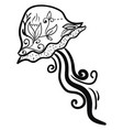jellyfish tattoo on white background vector image vector image