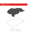 map honduras isolated black vector image vector image