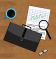 market trend chart vector image vector image