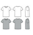 mens t shirt for template fashion casual vector image vector image
