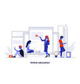 modern flat design concept - online education vector image vector image