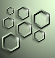modern metallic polygonal shape with shadow vector image vector image