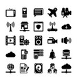 network and communication icons 6 vector image vector image