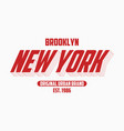 new york modern typography slogan for t-shirt vector image vector image