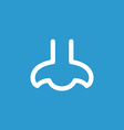 nose icon white on the blue background vector image