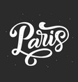 paris hand written lettering modern calligraphy vector image vector image