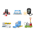 renovation icons vector image vector image