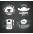 Restaurant menu emblems set vector image vector image