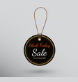 round badge with black friday sale sign vector image vector image