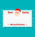 santa letter template concept background flat vector image
