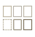 set luxury decorative frame vector image vector image