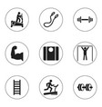 set of 9 editable lifestyle icons includes vector image vector image