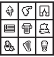 Set of flat icon in black and white style Greece vector image vector image