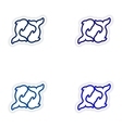 Set paper stickers on white background pair of vector image vector image
