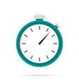 stopwatch icon flat design with shadow blue circle vector image vector image