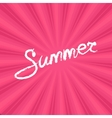 Text Summer on Pink Background vector image