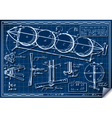 Vintage Kids Plane Project on Blueprint vector image vector image