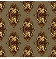 vintage seamless pattern damask vector image vector image