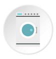 washing machine icon circle vector image vector image