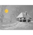 Winter silent night vector image vector image