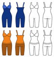 Woman outlined slimming underwear set vector image vector image