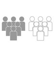 working together team concept it is black icon vector image vector image