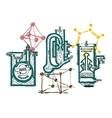 Hand draw chemistry vector image